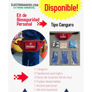 kit bioseguridad tipo canguro, electroanfer