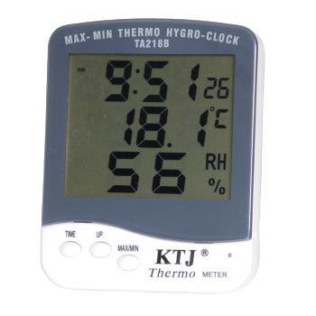 Termohigrómetro Lectura Digital + Reloj TA218B