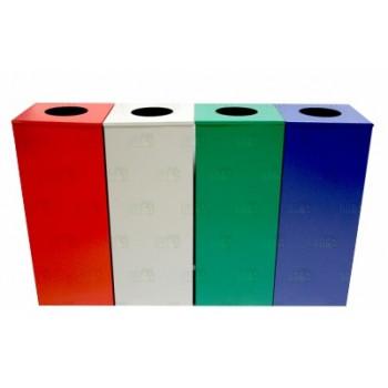 Canecas Cuadradas De Acero Colores - Electromanfer