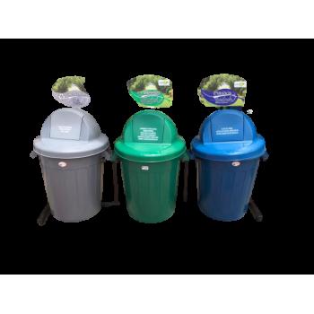 Punto ecológico de 3 canecas Colplast - 120 litros